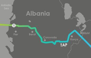 TAP_route_Albania_harta gjurma